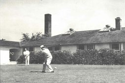 Circa 1938 ~ Bill Gittings is on the first tee