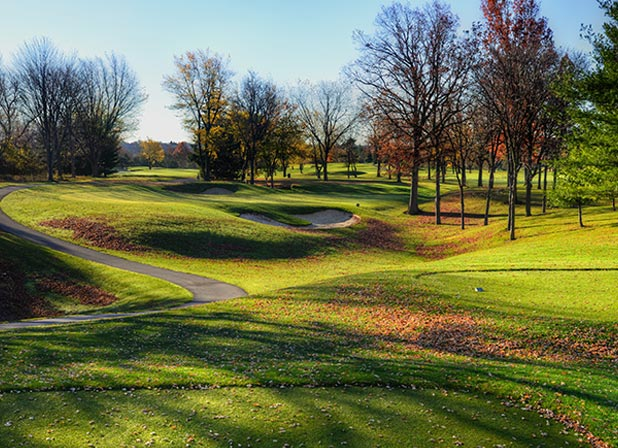 the course greens in the fall